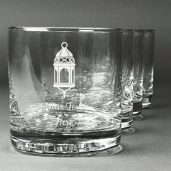 Moroccan Lanterns Whiskey Glasses (Set of 4) (Personalized)