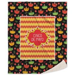 Cinco De Mayo Sherpa Throw Blanket (Personalized)