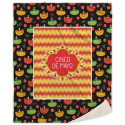Cinco De Mayo Sherpa Throw Blanket (Personalized)