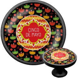 Cinco De Mayo Cabinet Knob (Black) (Personalized)
