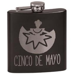Cinco De Mayo Black Flask (Personalized)