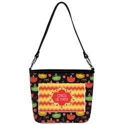 Cinco De Mayo Bucket Bag w/ Genuine Leather Trim (Personalized)