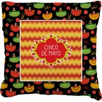 Cinco De Mayo Faux-Linen Throw Pillow (Personalized)