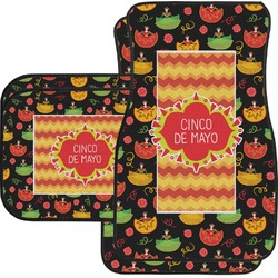 Cinco De Mayo Car Floor Mats Set - 2 Front & 2 Back (Personalized)