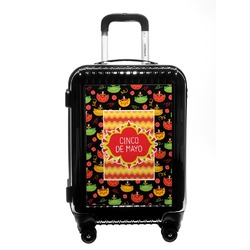 Cinco De Mayo Carry On Hard Shell Suitcase (Personalized)