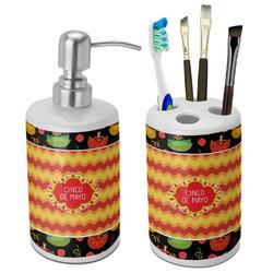 Cinco De Mayo Bathroom Accessories Set (Ceramic) (Personalized)