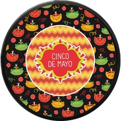 Cinco De Mayo Round Trailer Hitch Cover (Personalized)