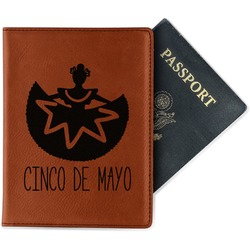 Cinco De Mayo Leatherette Passport Holder (Personalized)