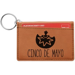 Cinco De Mayo Leatherette Keychain ID Holder (Personalized)