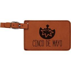 Cinco De Mayo Leatherette Luggage Tag (Personalized)