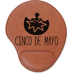 Cinco De Mayo Leatherette Mouse Pad with Wrist Support (Personalized)