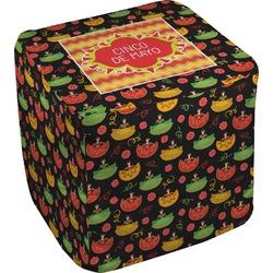 "Cinco De Mayo Cube Pouf Ottoman - 18"" (Personalized)"