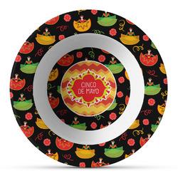 Cinco De Mayo Plastic Bowl - Microwave Safe - Composite Polymer (Personalized)