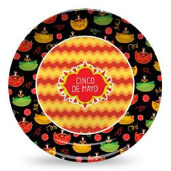Cinco De Mayo Microwave Safe Plastic Plate - Composite Polymer (Personalized)