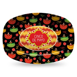 Cinco De Mayo Plastic Platter - Microwave & Oven Safe Composite Polymer (Personalized)
