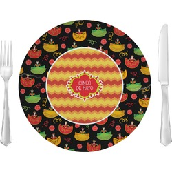 """Cinco De Mayo 10"""" Glass Lunch / Dinner Plates - Single or Set (Personalized)"""