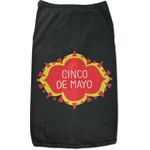 Cinco De Mayo Black Pet Shirt (Personalized)