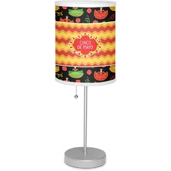 """Cinco De Mayo 7"""" Drum Lamp with Shade Linen (Personalized)"""