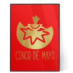 Cinco De Mayo 5x7 Red Foil Print (Personalized)