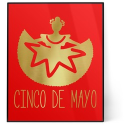 Cinco De Mayo 8x10 Foil Wall Art - Red (Personalized)
