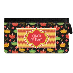 Cinco De Mayo Genuine Leather Ladies Zippered Wallet (Personalized)