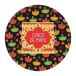Cinco De Mayo Round Desk Weight - Genuine Leather  (Personalized)