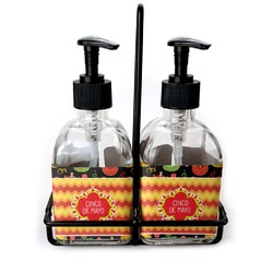 Cinco De Mayo Soap & Lotion Dispenser Set (Glass) (Personalized)