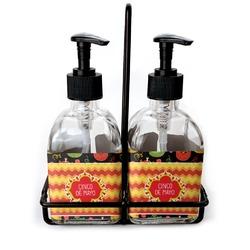 Cinco De Mayo Soap & Lotion Dispenser Set (Glass) (Personalized)