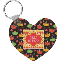Cinco De Mayo Heart Keychain (Personalized)