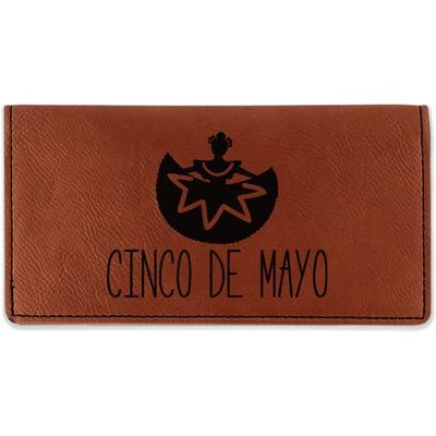 Cinco De Mayo Leatherette Checkbook Holder (Personalized)