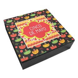 Cinco De Mayo Leatherette Keepsake Box - 3 Sizes (Personalized)