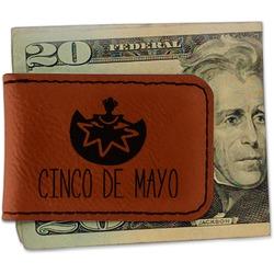 Cinco De Mayo Leatherette Magnetic Money Clip (Personalized)