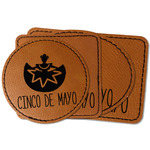 Cinco De Mayo Faux Leather Iron On Patch