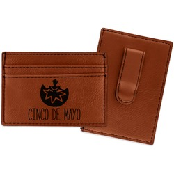 Cinco De Mayo Leatherette Wallet with Money Clip (Personalized)
