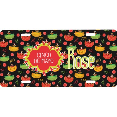 Cinco De Mayo Front License Plate (Personalized)