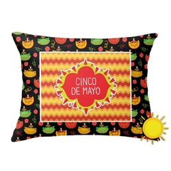 Cinco De Mayo Outdoor Throw Pillow (Rectangular) (Personalized)