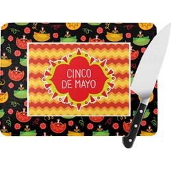 Cinco De Mayo Rectangular Glass Cutting Board (Personalized)