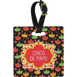 Cinco De Mayo Square Luggage Tag (Personalized)