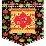 Cinco De Mayo Iron On Faux Pocket (Personalized)