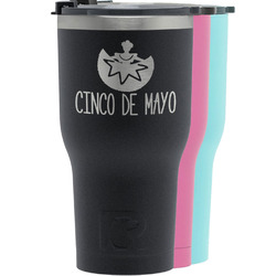 Cinco De Mayo RTIC Tumbler - Black (Personalized)
