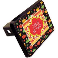 "Cinco De Mayo Rectangular Trailer Hitch Cover - 2"" (Personalized)"