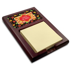 Cinco De Mayo Red Mahogany Sticky Note Holder (Personalized)