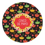Cinco De Mayo Round Decal (Personalized)