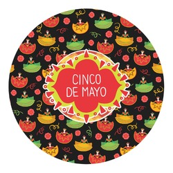 Cinco De Mayo Round Decal - Small (Personalized)