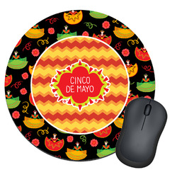 Cinco De Mayo Round Mouse Pad (Personalized)