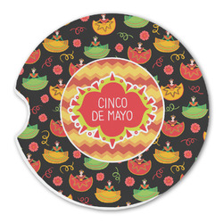 Cinco De Mayo Sandstone Car Coasters (Personalized)
