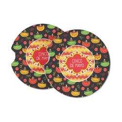 Cinco De Mayo Sandstone Car Coasters (Personalized)