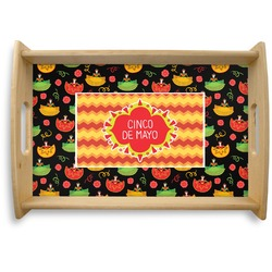 Cinco De Mayo Natural Wooden Tray (Personalized)