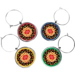 Cinco De Mayo Wine Charms (Set of 4) (Personalized)