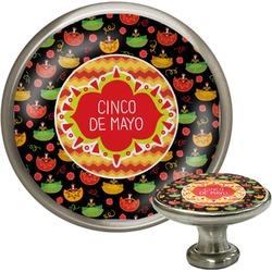 Cinco De Mayo Cabinet Knob (Silver) (Personalized)